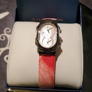 Philip stein sig small gorgeous dual time  watch